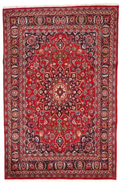 Meszhed Dywan 197X280 Orientalny Tkany Ręcznie Czerwony/Ciemnobrązowy (Wełna, Persja/Iran)