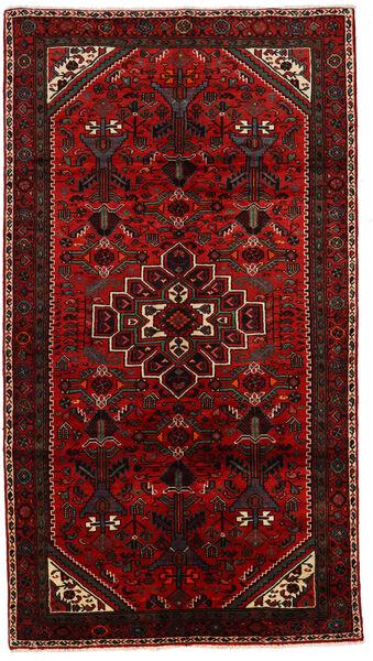 Asadabad Dywan 149X268 Orientalny Tkany Ręcznie Ciemnoczerwony/Rdzawy/Czerwony (Wełna, Persja/Iran)