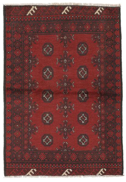Afgan Dywan 96X143 Orientalny Tkany Ręcznie Czarny/Ciemnobrązowy (Wełna, Afganistan)