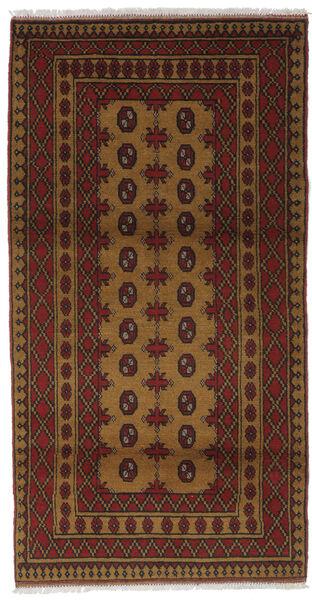 Afgan Dywan 99X186 Orientalny Tkany Ręcznie Czarny/Ciemnobrązowy (Wełna, Afganistan)