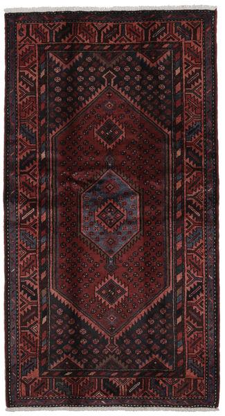 Hamadan Dywan 107X200 Orientalny Tkany Ręcznie Czarny (Wełna, Persja/Iran)