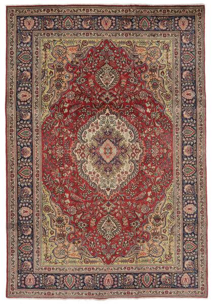 Tebriz Dywan 207X297 Orientalny Tkany Ręcznie Ciemnobrązowy/Czarny (Wełna, Persja/Iran)