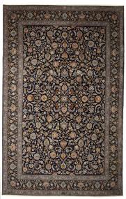 Keszan Sygnowany: Parvari Dywan 400X615 Orientalny Tkany Ręcznie Ciemnobrązowy/Ciemnoszary Duży (Wełna, Persja/Iran)