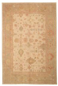 Usak Dywan 276X404 Orientalny Tkany Ręcznie Ciemnobeżowy/Jasnobrązowy Duży (Wełna, Turcja)