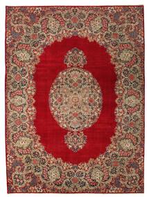 Kerman Patina Dywan 277X374 Orientalny Tkany Ręcznie Ciemnoczerwony/Jasnobrązowy Duży (Wełna, Persja/Iran)