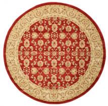 Ziegler Kaspin - Czerwony Dywan Ø 250 Orientalny Okrągły Ciemnobeżowy/Rdzawy/Czerwony Duży ( Turcja)