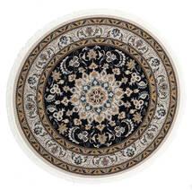 Nain Mahak Dywan Ø 225 Orientalny Okrągły Czarny/Jasnoszary ( Turcja)
