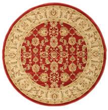 Ziegler Kaspin - Czerwony Dywan Ø 150 Orientalny Okrągły Ciemnobeżowy/Rdzawy/Czerwony ( Turcja)