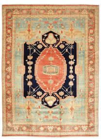 Heriz Dywan 405X540 Orientalny Tkany Ręcznie Ciemnobeżowy/Jasnozielony Duży (Wełna, Persja/Iran)