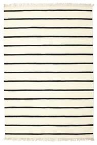 Dorri Stripe - White/Czarny Dywan 190X290 Nowoczesny Tkany Ręcznie Beżowy/Biały/Creme (Wełna, Indie)