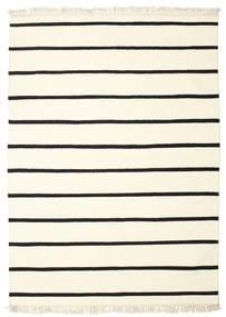 Dorri Stripe - White/Czarny Dywan 140X200 Nowoczesny Tkany Ręcznie Beżowy/Biały/Creme (Wełna, Indie)