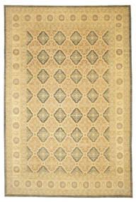 Ziegler Dywan 359X539 Orientalny Tkany Ręcznie Ciemnobeżowy/Żółty Duży (Wełna, Pakistan)