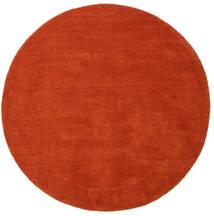 Handloom - Rdzawy/Czerwony Dywan Ø 150 Nowoczesny Okrągły Rdzawy/Czerwony (Wełna, Indie)