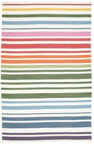 Rainbow Stripe - White Dywan 200X300 Nowoczesny Tkany Ręcznie Biały/Creme (Bawełna, Indie)