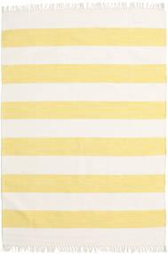 Cotton Stripe - Żółty Dywan 140X200 Nowoczesny Tkany Ręcznie Beżowy/Żółty (Bawełna, Indie)