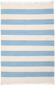 Cotton Stripe - Jasny Niebieski Dywan 160X230 Nowoczesny Tkany Ręcznie Jasnoniebieski/Beżowy (Bawełna, Indie)