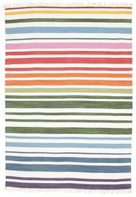 Rainbow Stripe - White Dywan 160X230 Nowoczesny Tkany Ręcznie Biały/Creme (Bawełna, Indie)