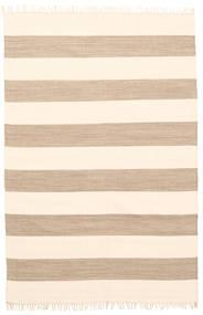 Cotton Stripe - Brunatny Dywan 140X200 Nowoczesny Tkany Ręcznie Beżowy (Bawełna, Indie)
