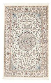 Nain 6La Dywan 100X160 Orientalny Tkany Ręcznie Beżowy/Jasnoszary (Wełna/Jedwab, Persja/Iran)