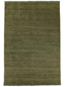 Handloom Fringes - Zielony Dywan 200X300 Nowoczesny Zielony/Oliwkowy/Ciemnozielony (Wełna, Indie)