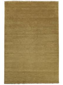 Handloom Fringes - Zielony/Oliwkowy Dywan 140X200 Nowoczesny Zielony/Oliwkowy/Brązowy (Wełna, Indie)