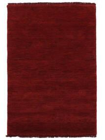 Handloom Fringes - Ciemnoczerwony Dywan 160X230 Nowoczesny Czerwony (Wełna, Indie)