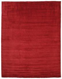 Handloom Fringes - Ciemnoczerwony Dywan 300X400 Nowoczesny Czerwony Duży (Wełna, Indie)
