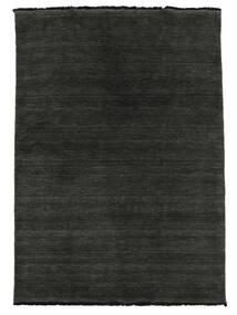 Handloom Fringes - Czarny/Szary Dywan 140X200 Nowoczesny Czarny (Wełna, Indie)