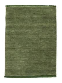 Handloom Fringes - Zielony Dywan 140X200 Nowoczesny Zielony/Oliwkowy/Ciemnozielony (Wełna, Indie)