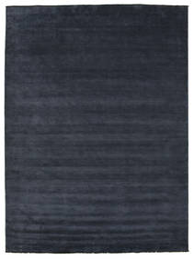 Handloom Fringes - Ciemnoniebieski Dywan 300X400 Nowoczesny Ciemnoniebieski Duży (Wełna, Indie)