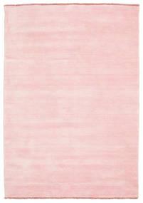 Handloom Fringes - Różowy Dywan 140X200 Nowoczesny Jasnoróżowy (Wełna, Indie)