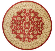 Ziegler Kaspin - Czerwony Dywan Ø 300 Orientalny Okrągły Ciemnobeżowy/Rdzawy/Czerwony Duży ( Turcja)
