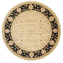 Farahan Ziegler - Beżowy Dywan Ø 300 Orientalny Okrągły Ciemnobeżowy/Beżowy/Jasnobrązowy Duży ( Turcja)