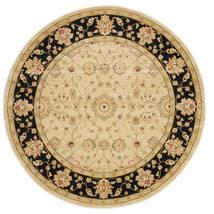 Farahan Ziegler - Beżowy Dywan Ø 200 Orientalny Okrągły Ciemnobeżowy/Beżowy ( Turcja)