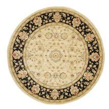 Farahan Ziegler - Beżowy Dywan Ø 150 Orientalny Okrągły Ciemnobeżowy/Beżowy/Jasnobrązowy ( Turcja)