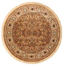Kerman Diba - Brunatny Dywan Ø 250 Nowoczesny Okrągły Brązowy/Ciemnobeżowy Duży ( Turcja)