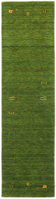 Gabbeh Loom Frame - Zielony Dywan 80X300 Nowoczesny Chodnik Ciemnozielony/Zielony/Oliwkowy (Wełna, Indie)