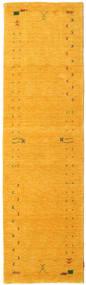 Gabbeh Loom Frame - Żółty Dywan 80X300 Nowoczesny Chodnik Pomarańczowy (Wełna, Indie)