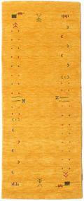 Gabbeh Loom Frame - Żółty Dywan 80X200 Nowoczesny Chodnik Żółty (Wełna, Indie)