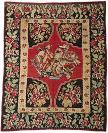 Kilim Pół -Antyk Dywan 287X355 Orientalny Tkany Ręcznie Ciemnoczerwony/Czarny Duży (Wełna, Słowenia)