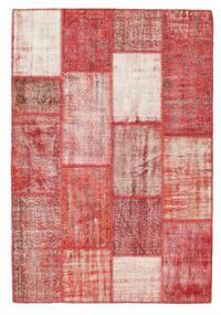 Patchwork Dywan 160X234 Nowoczesny Tkany Ręcznie Rdzawy/Czerwony/Ciemnoczerwony (Wełna, Turcja)