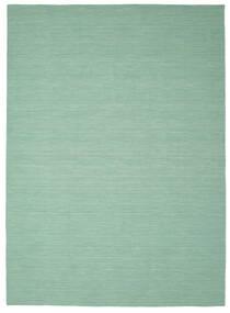 Kilim Loom - Mint Zielony Dywan 250X350 Nowoczesny Tkany Ręcznie Pastel Zielony/Turkusowy Niebieski Duży (Wełna, Indie)