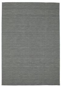 Kilim Loom - Ciemnoszary Dywan 200X300 Nowoczesny Tkany Ręcznie Ciemnozielony (Wełna, Indie)