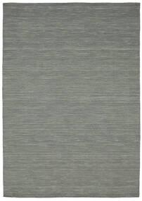Kilim Loom - Ciemnoszary Dywan 160X230 Nowoczesny Tkany Ręcznie Jasnoszary/Ciemnozielony (Wełna, Indie)