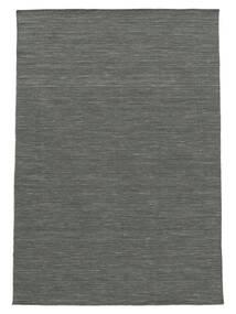 Kilim Loom - Ciemnoszary Dywan 140X200 Nowoczesny Tkany Ręcznie Ciemnozielony/Jasnoszary (Wełna, Indie)