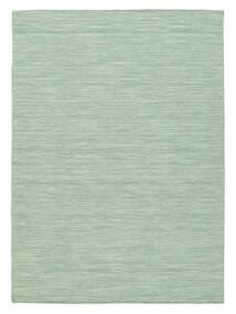 Kilim Loom - Mint Zielony Dywan 140X200 Nowoczesny Tkany Ręcznie Pastel Zielony/Turkusowy Niebieski (Wełna, Indie)