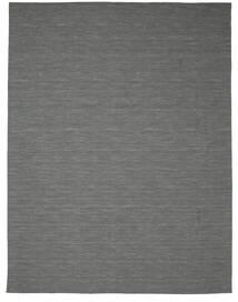 Kilim Loom - Ciemnoszary Dywan 300X400 Nowoczesny Tkany Ręcznie Ciemnozielony/Jasnoszary Duży (Wełna, Indie)
