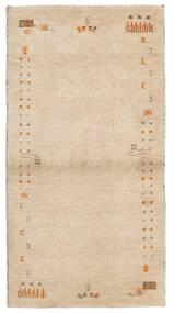 Gabbeh Indie Dywan 74X141 Nowoczesny Tkany Ręcznie Beżowy (Wełna, Indie)
