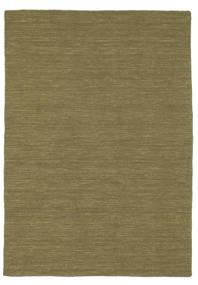 Kilim Loom - Oliwkowy Dywan 140X200 Nowoczesny Tkany Ręcznie Zielony/Oliwkowy (Wełna, Indie)
