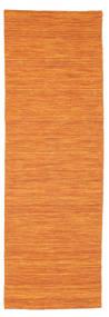 Kilim Loom - Pomarańczowy Dywan 80X250 Nowoczesny Tkany Ręcznie Chodnik Pomarańczowy (Wełna, Indie)